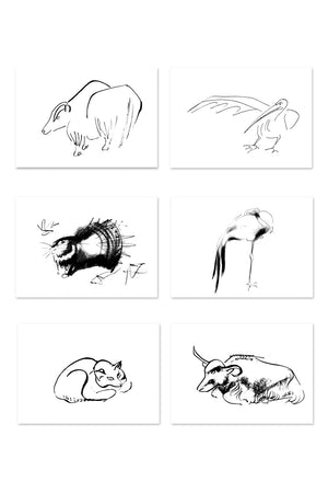 Isamu Noguchi - 'Studies of Fauna' greeting card set | 野口勇《Studies of Fauna》卡片套裝