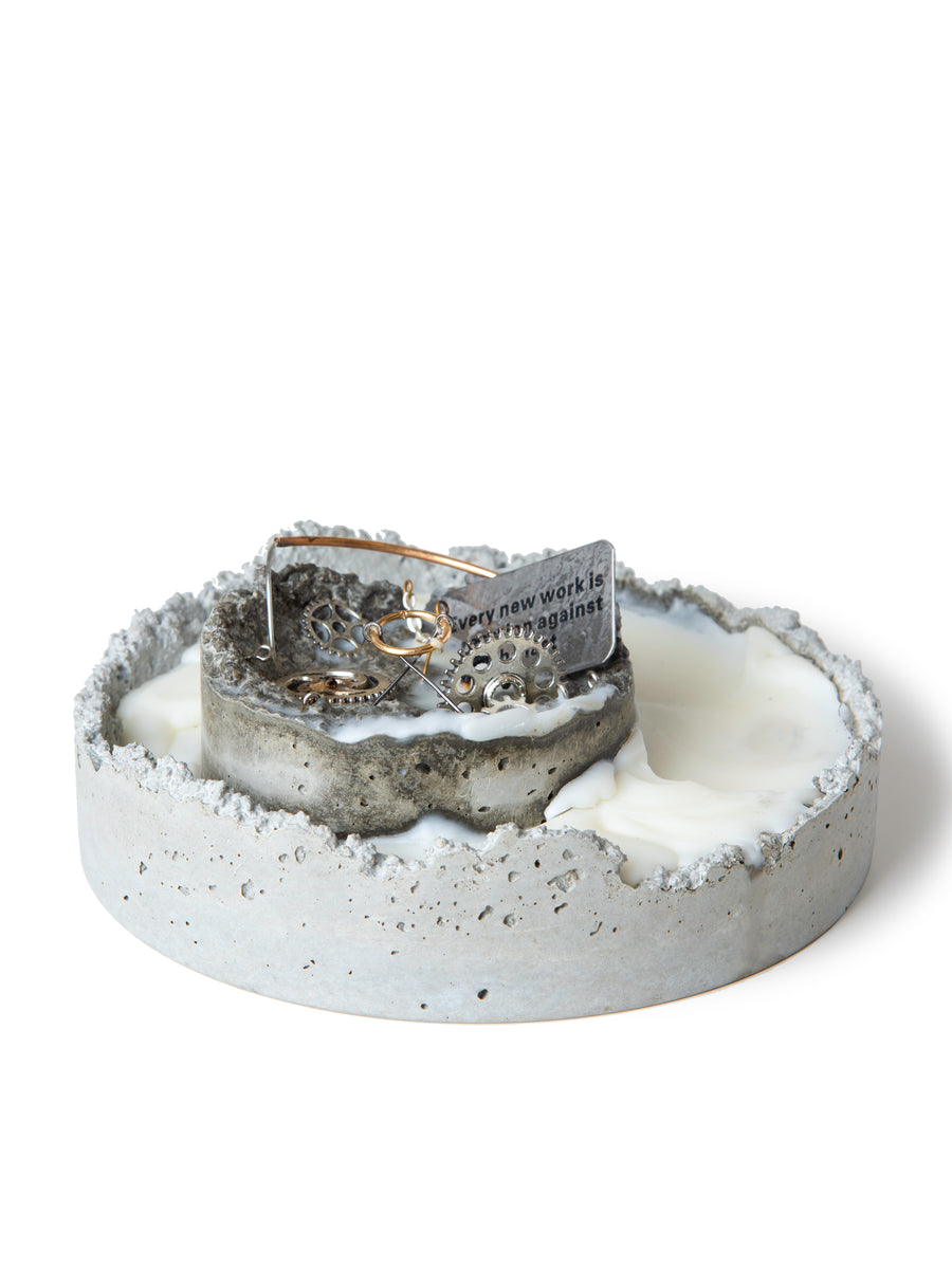 Cement candle