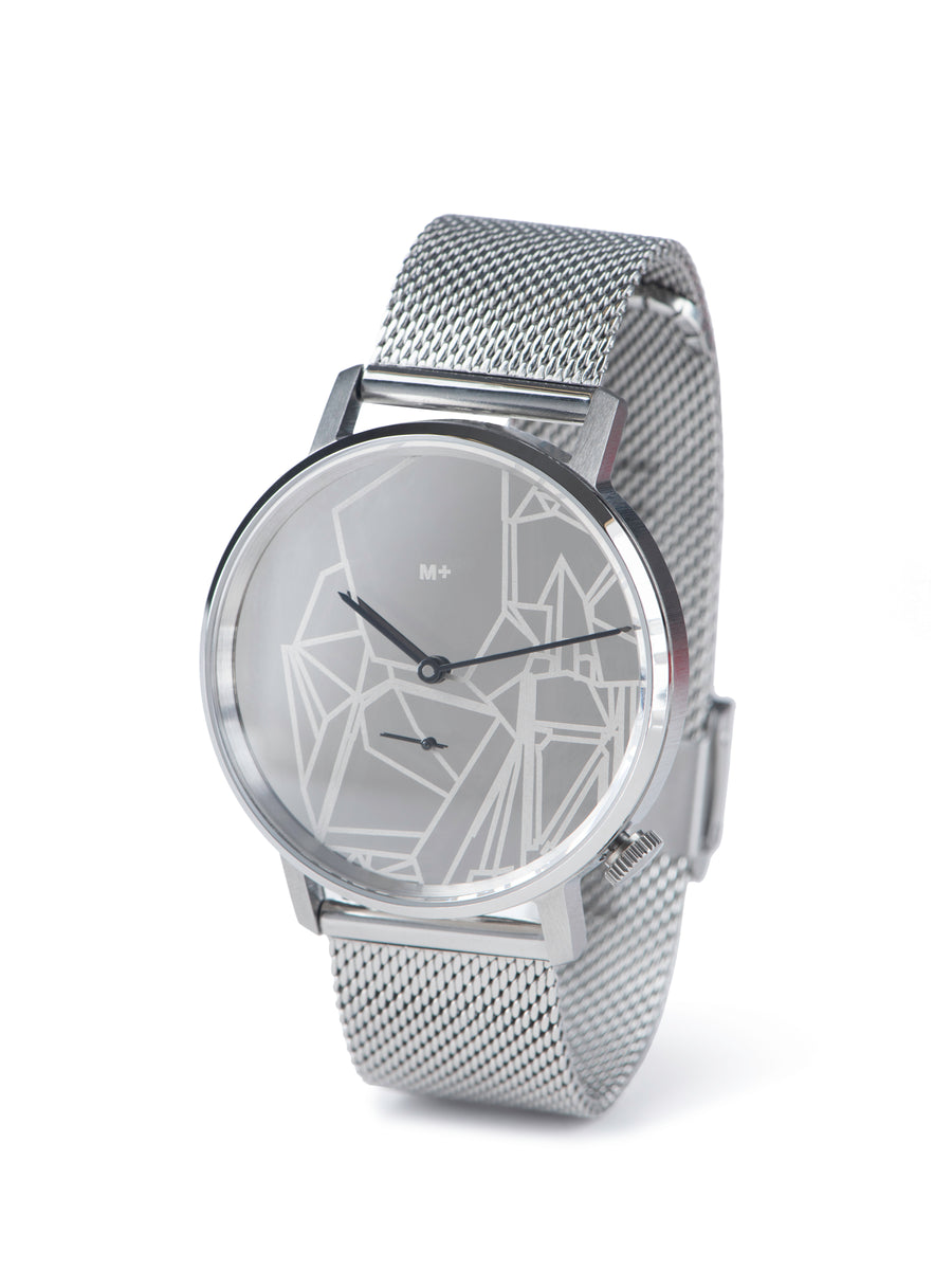 Metallic mechanical watch