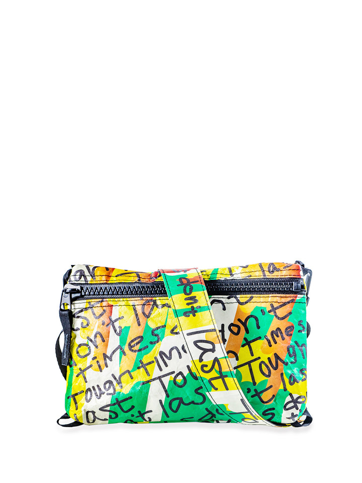 Samson Young -  'Tough time don't last' Tyvek cross-body bag | 楊嘉輝「Tough time don't last」 杜邦紙側揹袋