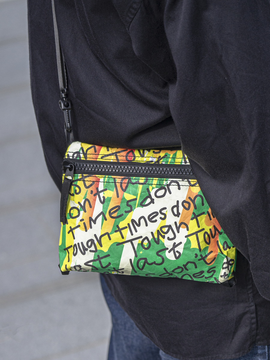 M+ Shop: Sigg Prize 2019 collection-Samson Young - 'Tough times don't last' Tyvek® cross-body bag