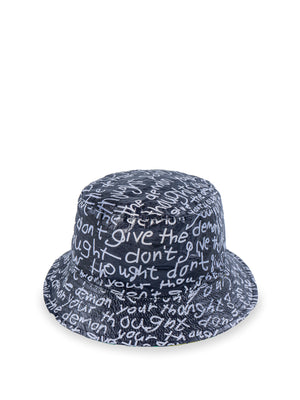 Samson Young -  'Don't give the demon your thought' Tyvek® bucket hat | 楊嘉輝 「Don't give the demon your thought」Tyvek®漁夫帽