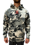 Snow Camo Hoody with Red Swords
