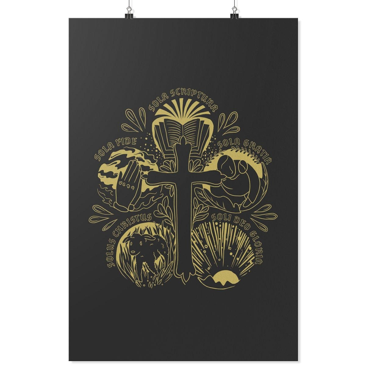 5 Solas (Wall Poster) - SDG Clothing