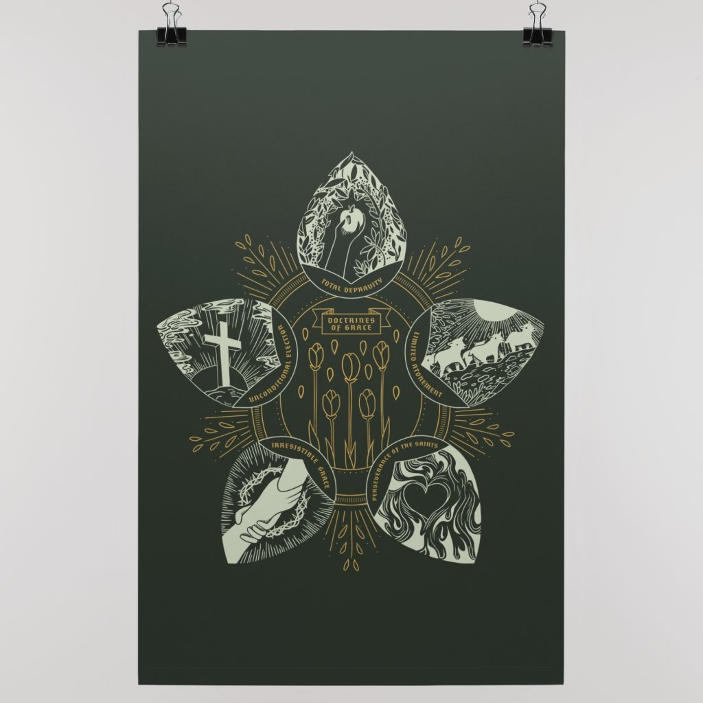 Doctrines of Grace (Wall Poster) - SDG Clothing