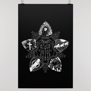 """Doctrines of Grace"" Wall Poster (B&W) - SDG Clothing"