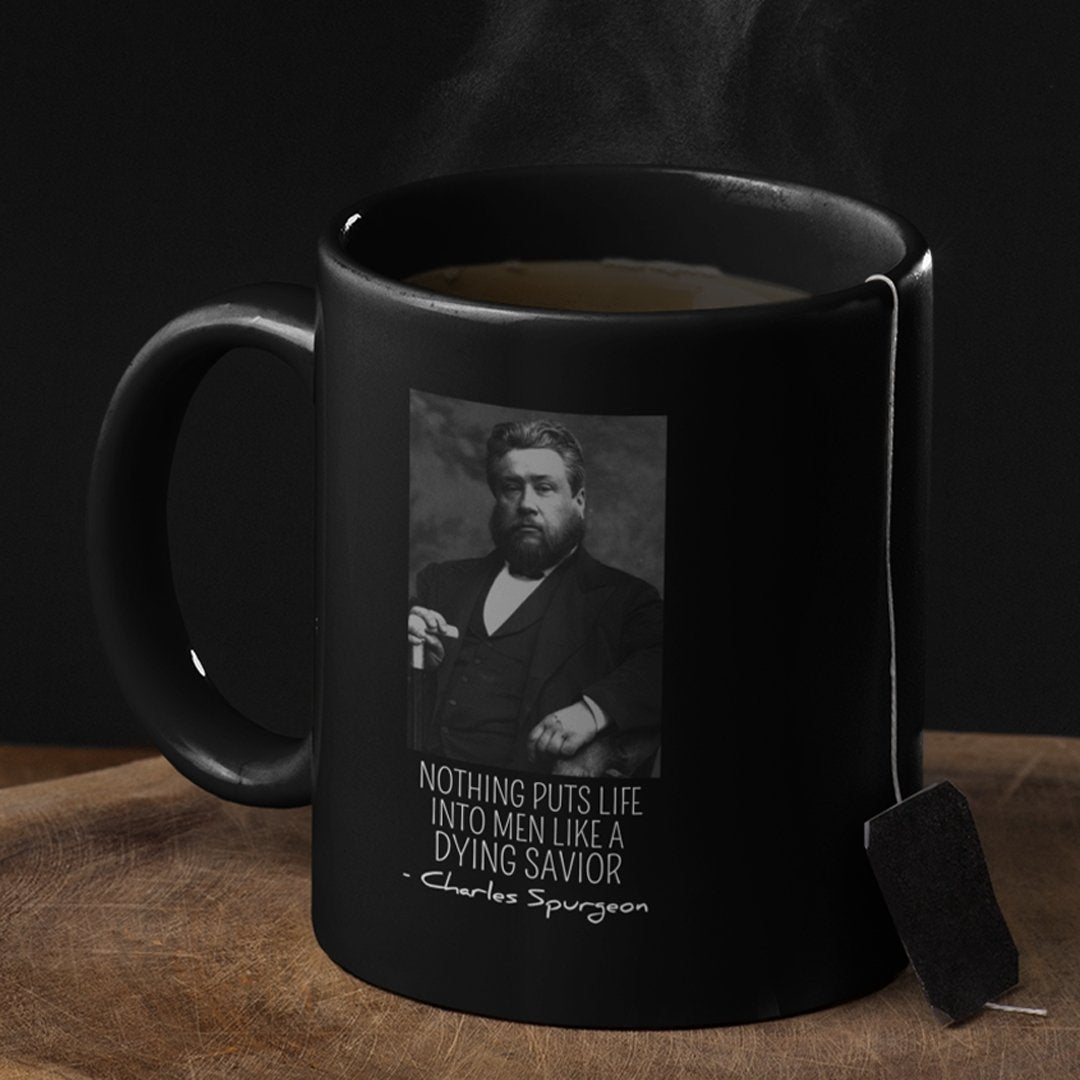 Dying Savior (11/15oz Black & White Mug) - SDG Clothing