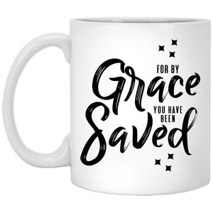 For by Grace (11/15oz Black & White Mug) - SDG Clothing