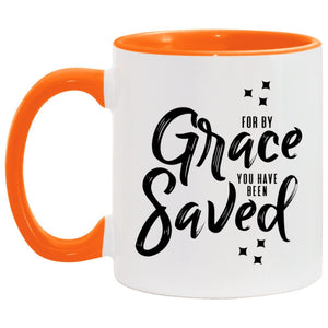 For by Grace (11oz Accent Mug) - SDG Clothing