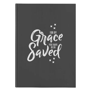 For by Grace (150 Page Hardcover Journal) - SDG Clothing