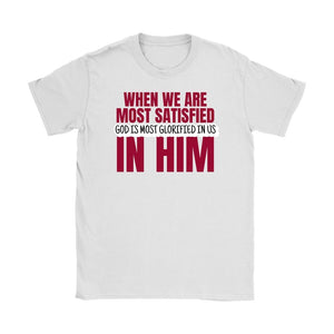 God is Most Glorified (Mens & Womens Tee) - SDG Clothing