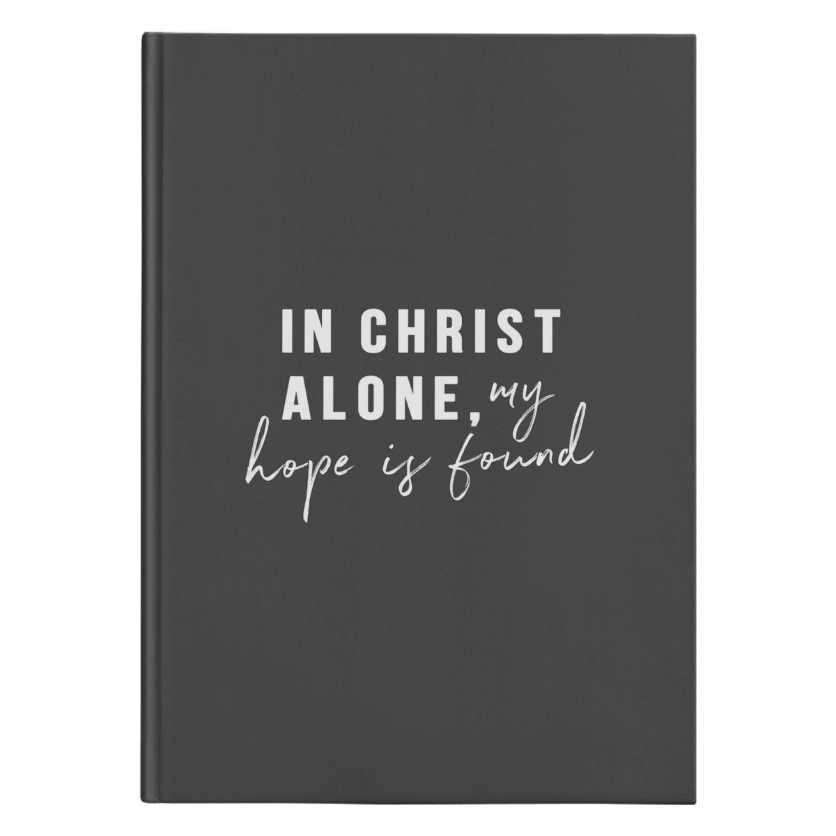 In Christ Alone (150 Page Hardcover Journal) - SDG Clothing