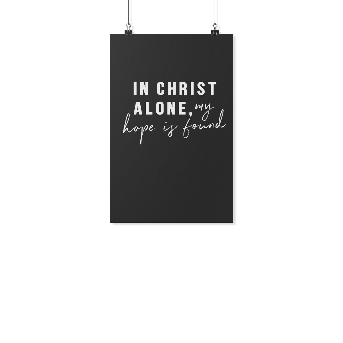 In Christ Alone (Wall Poster) - SDG Clothing