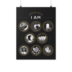 Jesus Said I Am (Multi-Color Wall Poster) - SDG Clothing