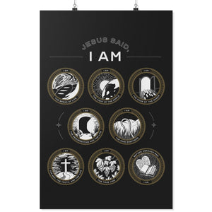 Jesus Said I Am (Wall Poster) - SDG Clothing