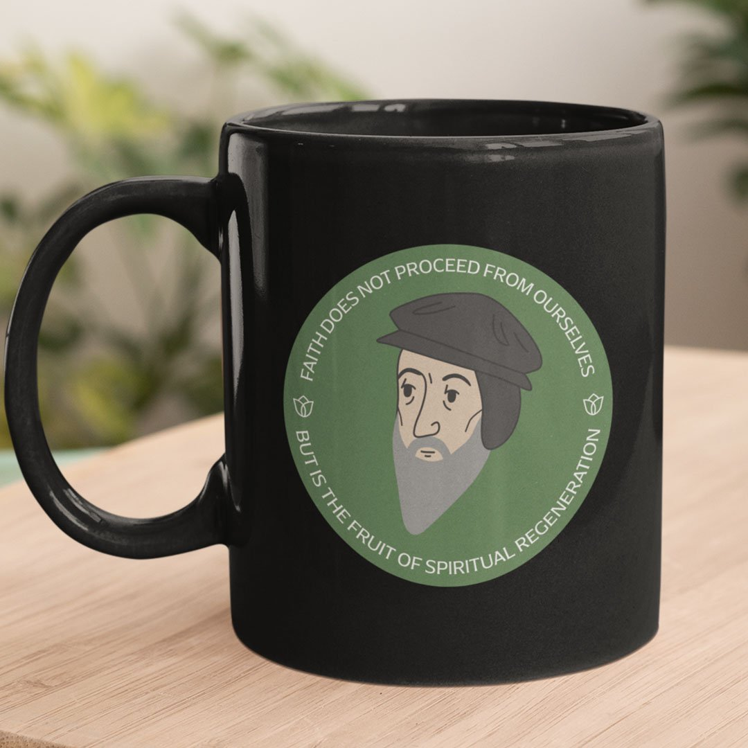John Calvin (11/15oz Black & White Mug) - SDG Clothing