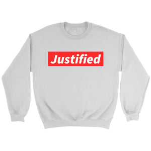 Justified (Unisex Sweatshirt & Hoodie) - SDG Clothing