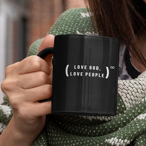 Love God, Love People (11/15oz Black & White Mug) - SDG Clothing