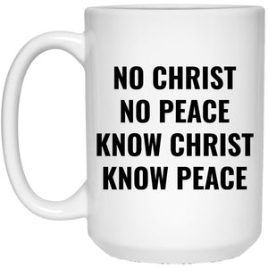 No Christ No Peace (11/15oz Black & White Mug) - SDG Clothing