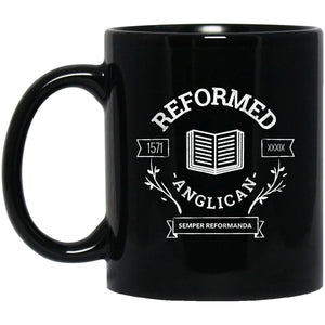 Reformed Anglican (11/15oz Black & White Mug) - SDG Clothing