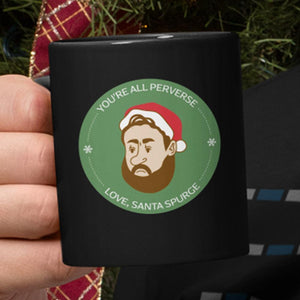Santa Spurgeon (11/15oz Black & White Mug) - SDG Clothing