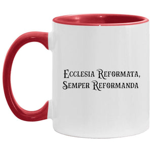 Semper Reformanda (11oz Accent Mug) - SDG Clothing