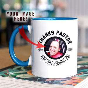 Thanks Pastor! (11oz Personalized Accent Mug) - SDG Clothing