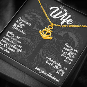 To My Wife (5 Solas) - Anchor Necklace - SDG Clothing