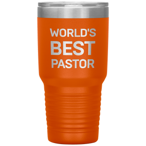 World's Best Pastor (30oz Stainless Steel Tumbler)