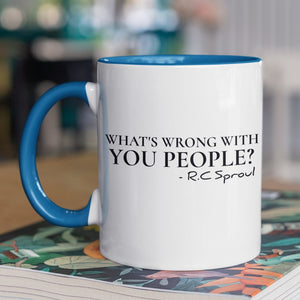 What's Wrong With You People (11oz Accent Mug) - SDG Clothing