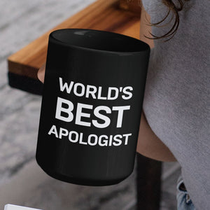 Worlds Best Apologist (11/15oz Black & White Mug) - SDG Clothing