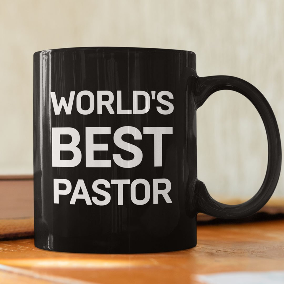 Worlds Best Pastor (11/15oz Black & White Mug) - SDG Clothing