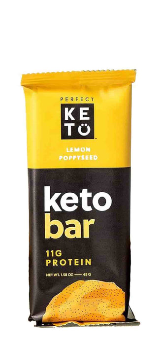 Perfect Keto Bars Lemon Poppyseed