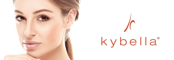 A kybella banner with face of lady