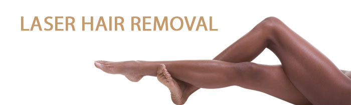 Laser hair removal image with a legs
