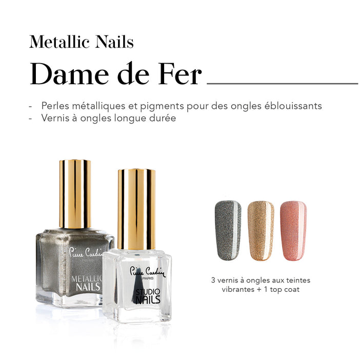 Dame de Fer Set de 4 Vernis à Ongles Metallic Nails