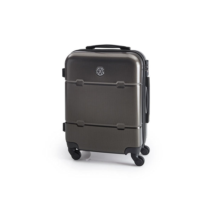 4 wheel ultralight cabinsize hardside suitcase
