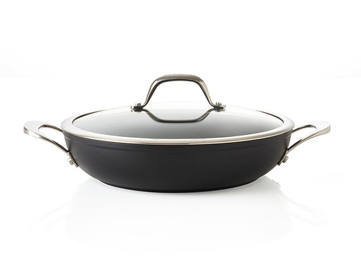 Wok / paella pan with glass lid