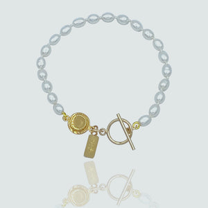Bridgette Pearl Toggle Bracelet
