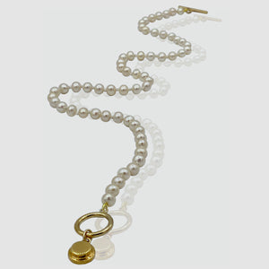 Harlow Rice Pearl Necklace