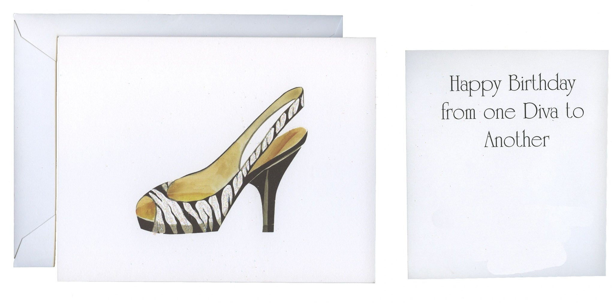 Zebra Heel Folded Birthday Card - GNC144
