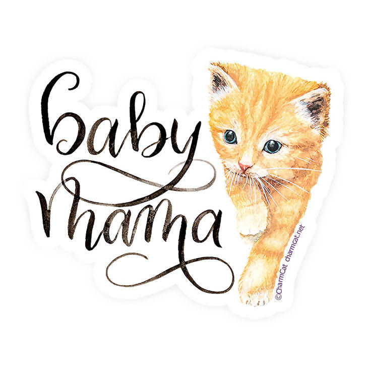 Baby Mama Kitten Sticker