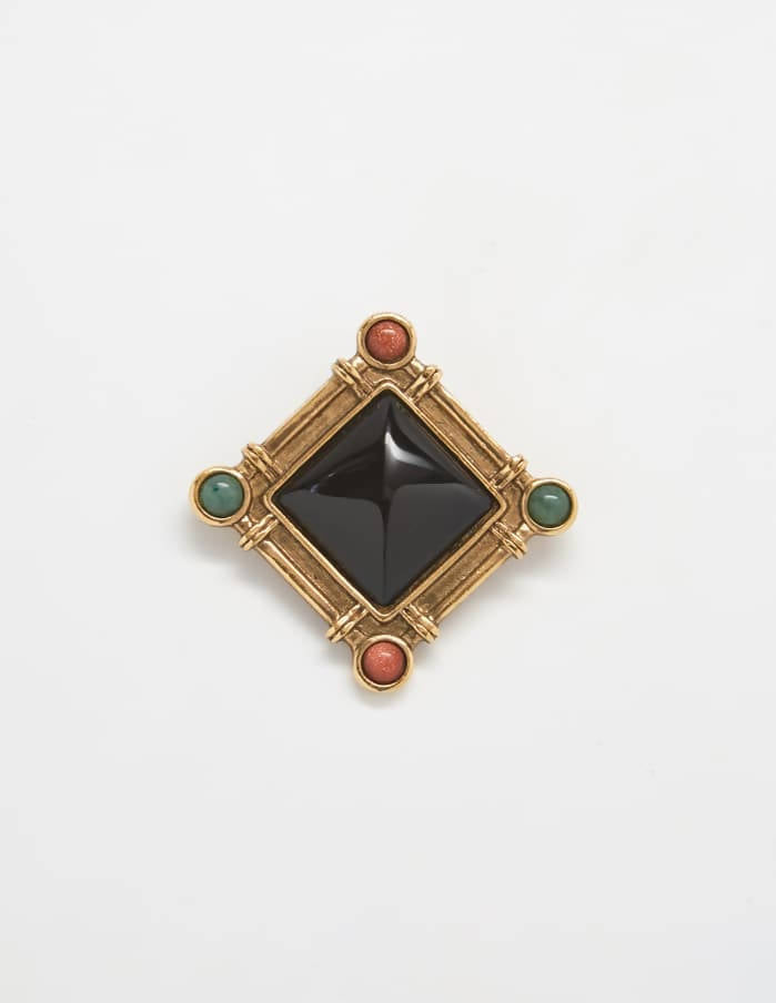 Vintage Diamond Studded Brooch