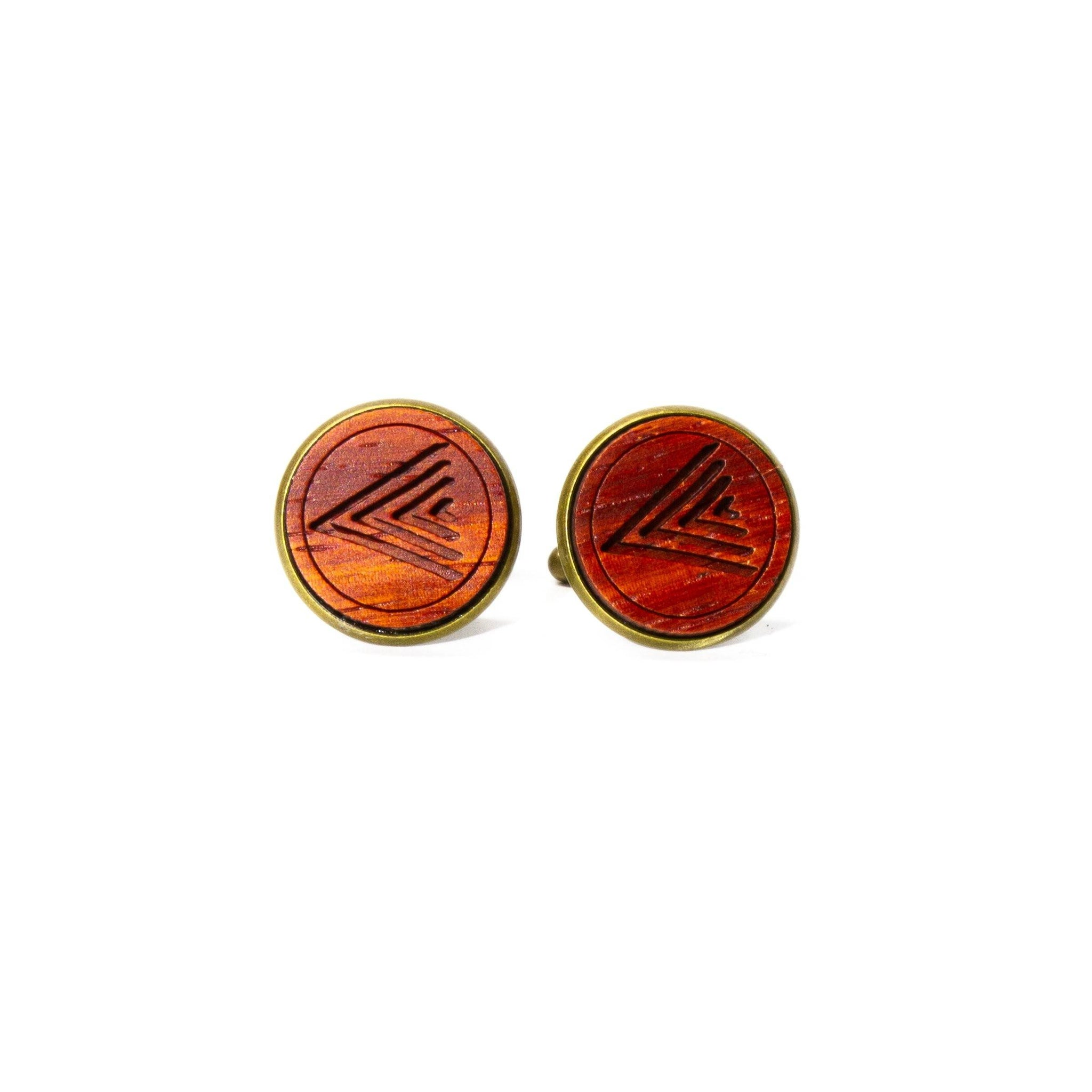 Waterbuck: Padauk Cufflinks
