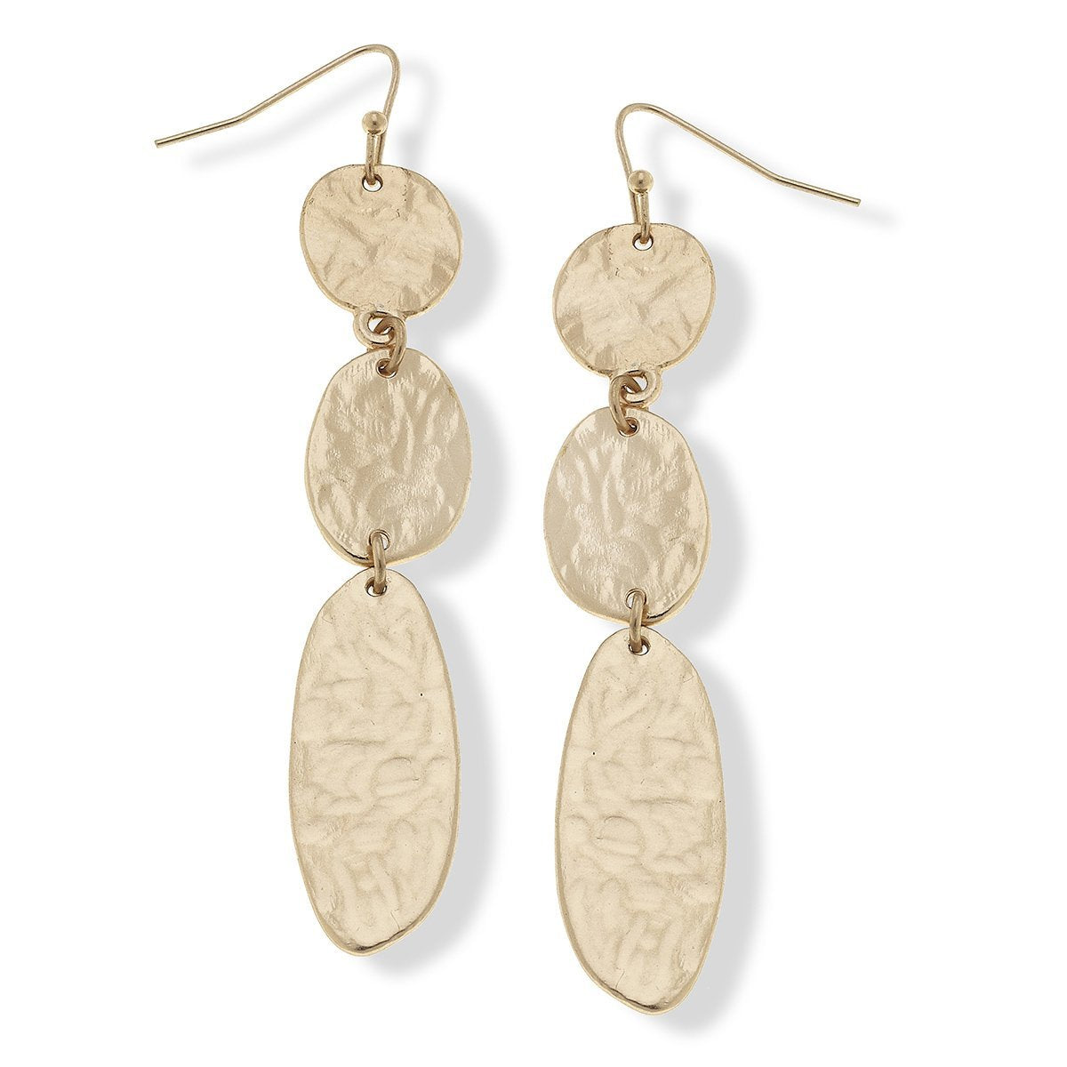 Harlow Linked Drop Earrings in Worn Gold