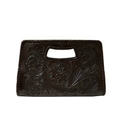 Isabel Small Clutch Dark Chocolate