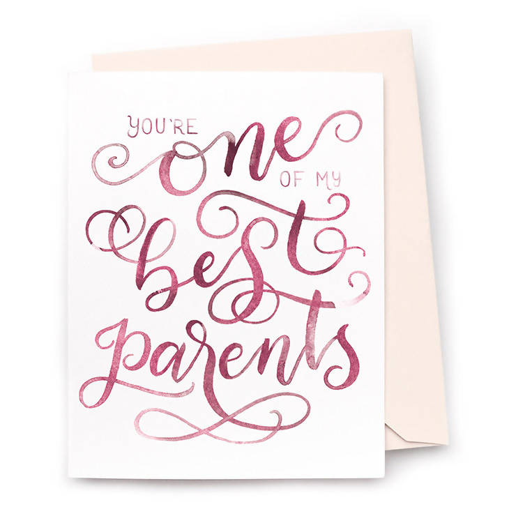 One of My Best Parents Card