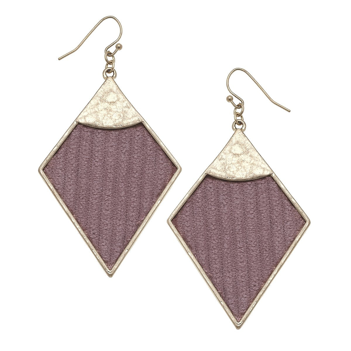 Velvet Diamond Drop Earrings in Mauve
