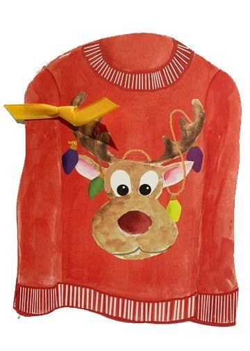GHW763W Ugly Sweater with glitter