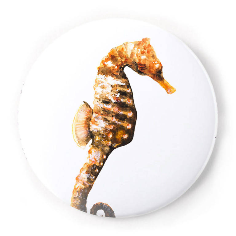 Seahorse 2 Inch Pin-Back Button